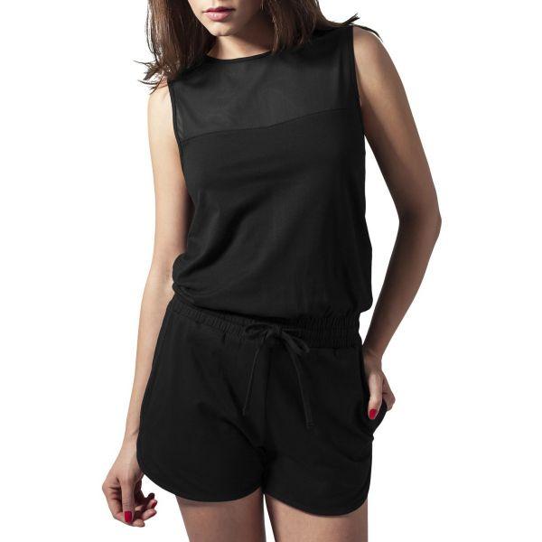 Urban Classics Ladies - TECH MESH Hot Jumpsuit schwarz