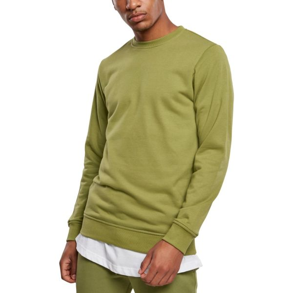Urban Classics - BASIC TERRY Crewneck Pullover olive
