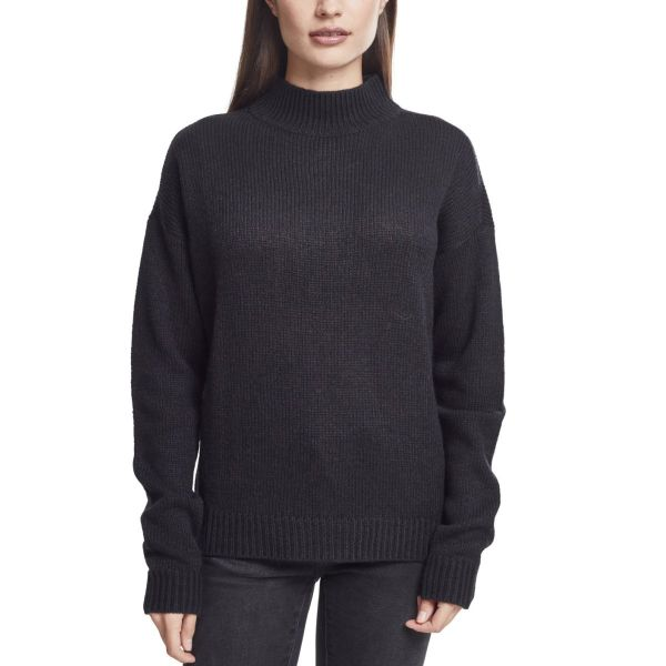 Urban Classics Ladies - Oversize Turtleneck Sweater royal