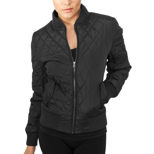 Urban Classics Ladies - DIAMANT BOMBER Nylon Steppjacke