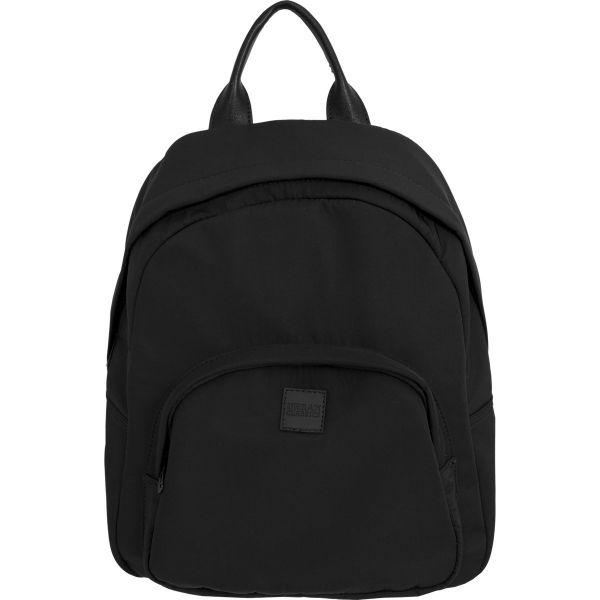 Urban Classics - MIDI Nylon Backpack Rucksack schwarz