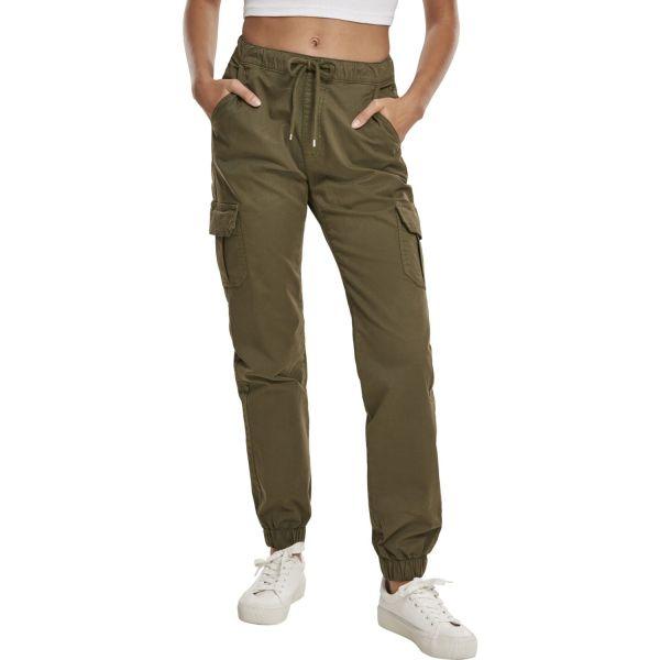 Urban Classics Ladies - High Waist Cargo Pants Hose