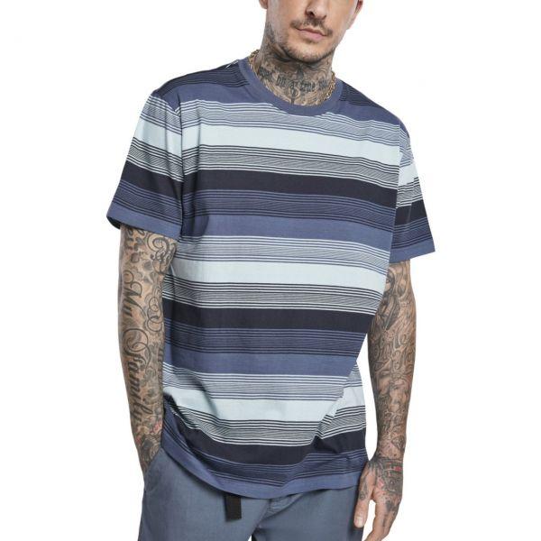 Urban Classics - Yarn Dyed Sunrise Stripe Shirt vintage blau