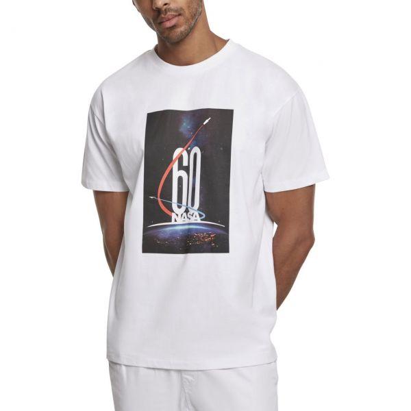 Mister Tee Oversized Shirt - NASA 60th Anniversary weiß