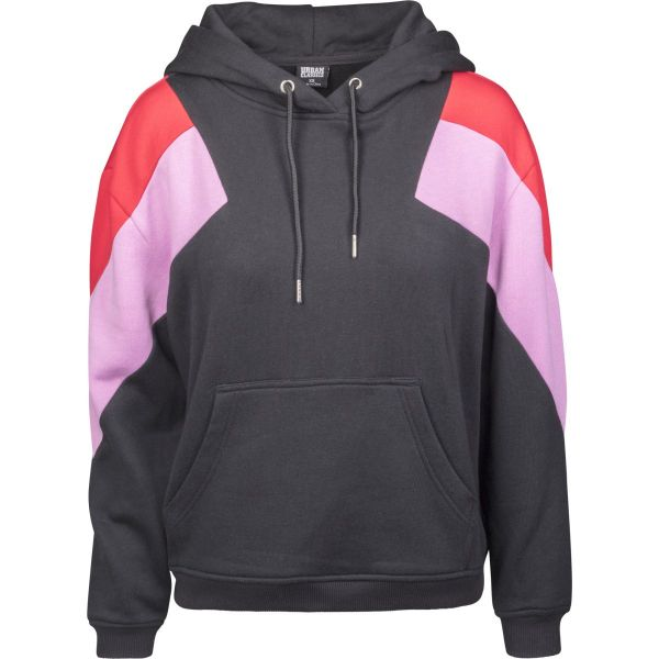 Urban Classics Ladies - Oversize 3-Tone Block Fleece Hoody