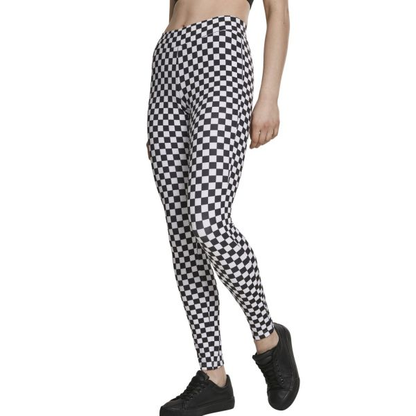 Urban Classics Ladies - CHESS Pattern Leggings
