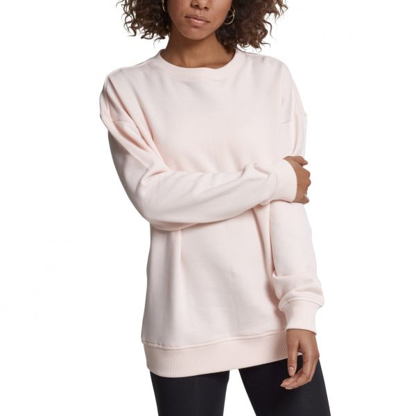 Urban Classics Ladies - Oversize Fleece Pullover noir