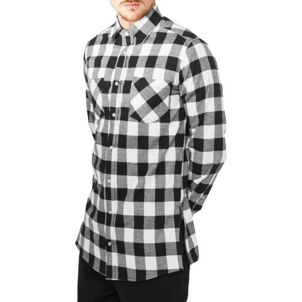 Urban Classics - FLANELL Holzfäller Zip Hemd, extra lang