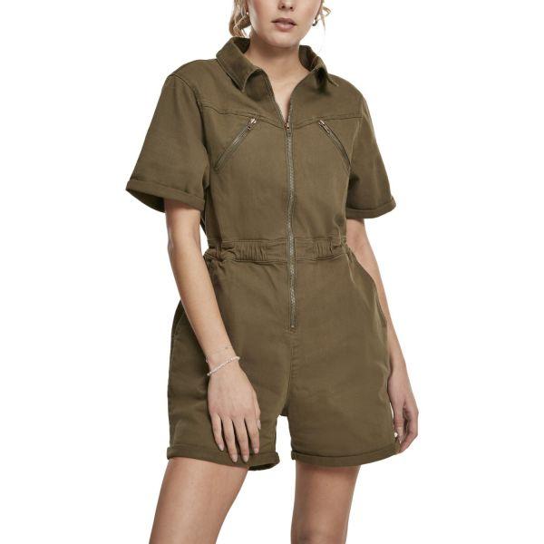 Urban Classics Ladies - Short Boiler Suit oliv