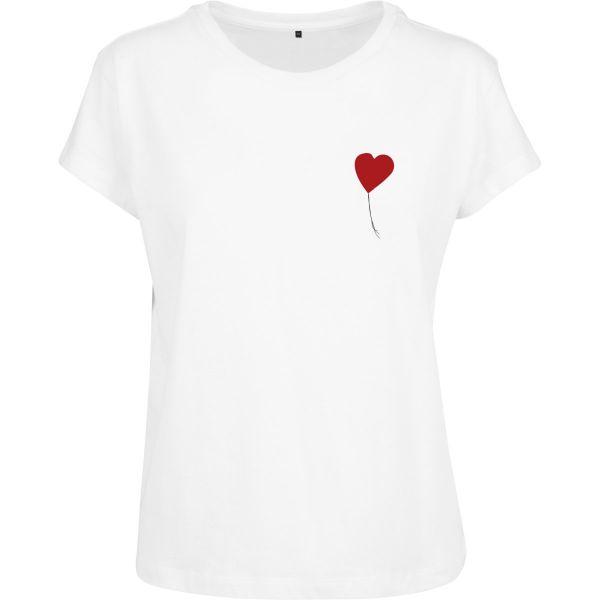 Merchcode Ladies Shirt - Banksy LOVE weiß