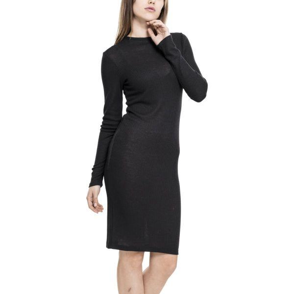 Urban Classics Ladies - RIB JERSEY Strick Kleid Dress