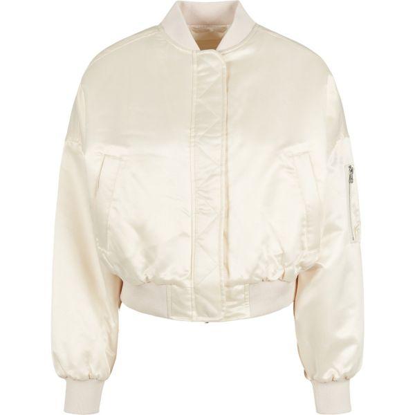 Urban Classics Ladies - SATIN BOMBER Short Oversized Jacke