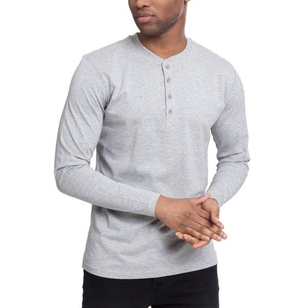 Urban Classics - HENLEY Longsleeve Langarm Shirt