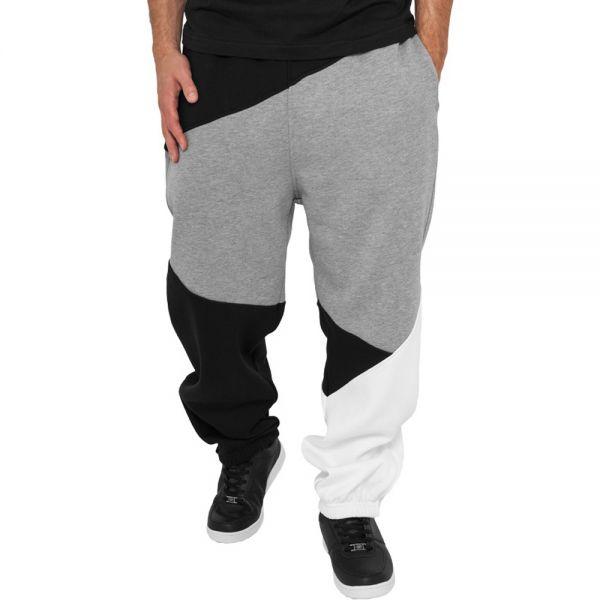 Urban Classics - ZIG ZAG Sweatpants schwarz / grau