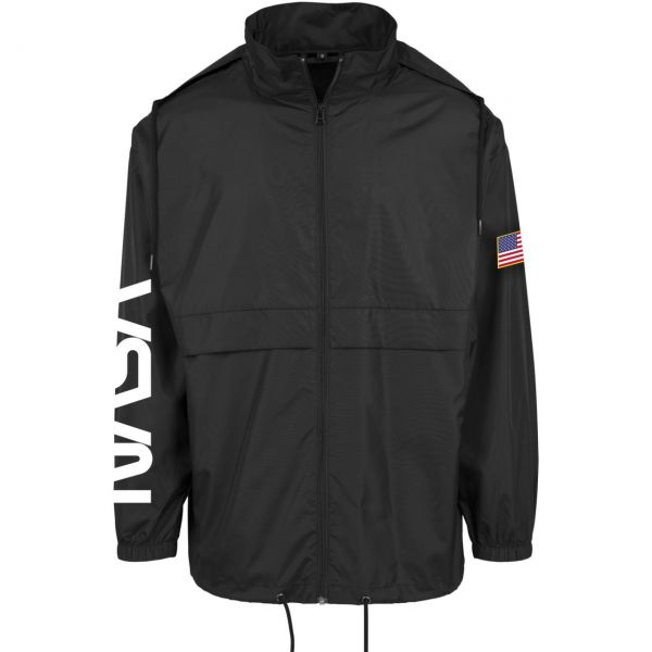 Mister Tee NASA Worm Nylon Windbreaker schwarz