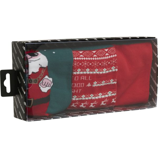Urban Classics - Christmas SANTA Socken 3er Pack