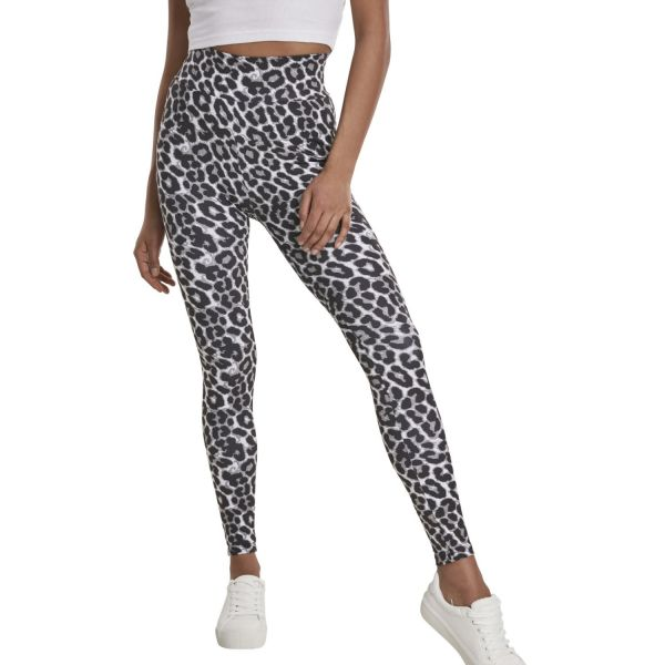 Urban Classics Ladies - High Waist Leggings snake
