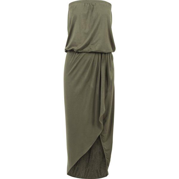 Urban Classics Ladies - Viscose Bandeau Sommer Stretch Kleid