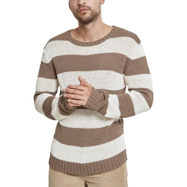 Urban Classics - STRIPED Strick Sweater Pullover