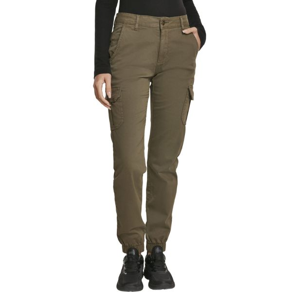 Urban Classics Ladies - High Waist Stretch Cargo Pants noir