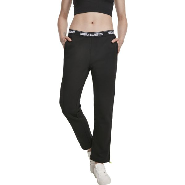 Urban Classics Ladies - Logo Waistband Pants black