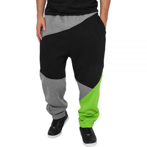Urban Classics - ZIG ZAG Sweatpants grau / schwarz