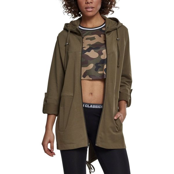 Urban Classics Ladies - SWEAT Terry PARKA Zip Hoody