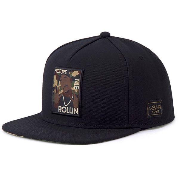 Cayler & Sons Snapback Cap - ROLLIN schwarz / camo