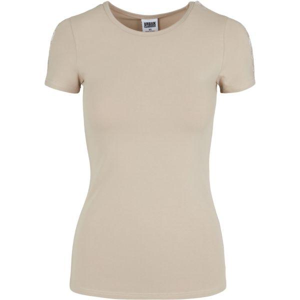 Urban Classics Ladies - Lace Shoulder Top sand beige