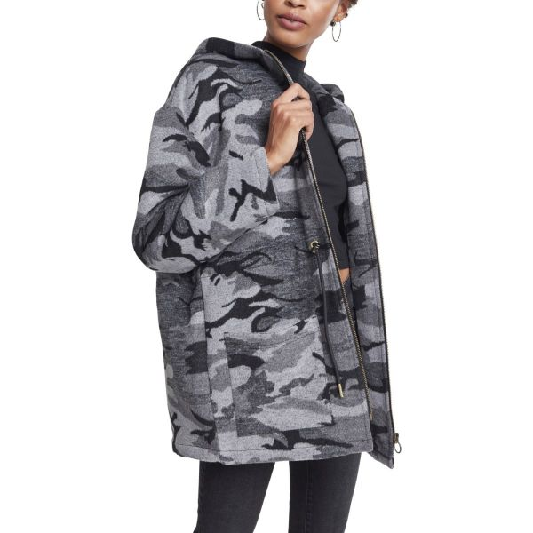 Urban Classics Ladies - Oversized Winter Parka dark camo