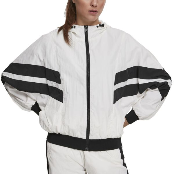 Urban Classics Ladies - CRINKLE Batwing Track Jacket white