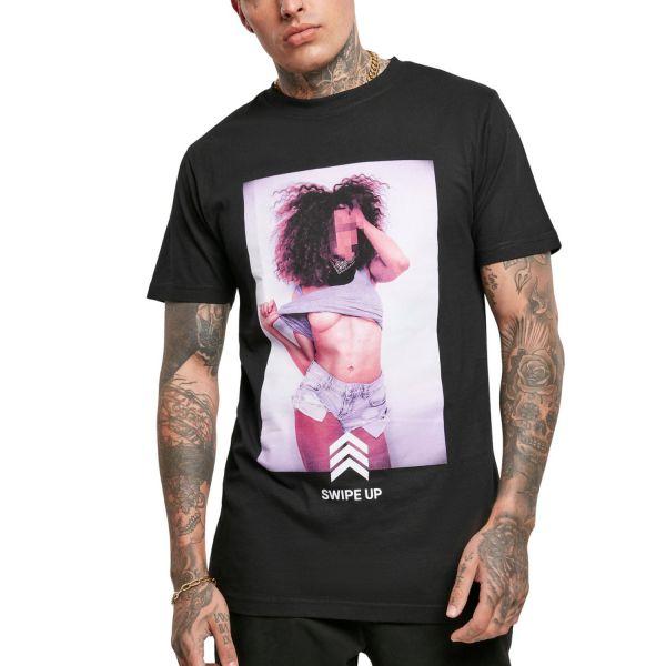 Mister Tee Grafik Shirt - SWIPE UP schwarz