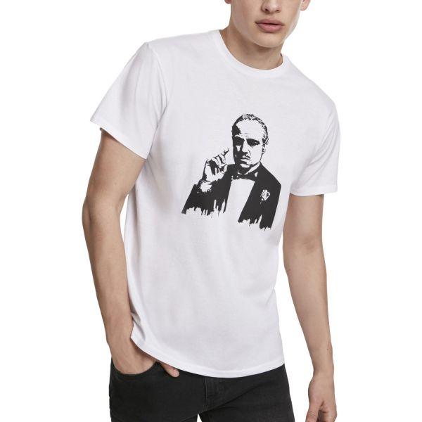 Merchcode Shirt - Godfather Painted Portrait Shirt weiß