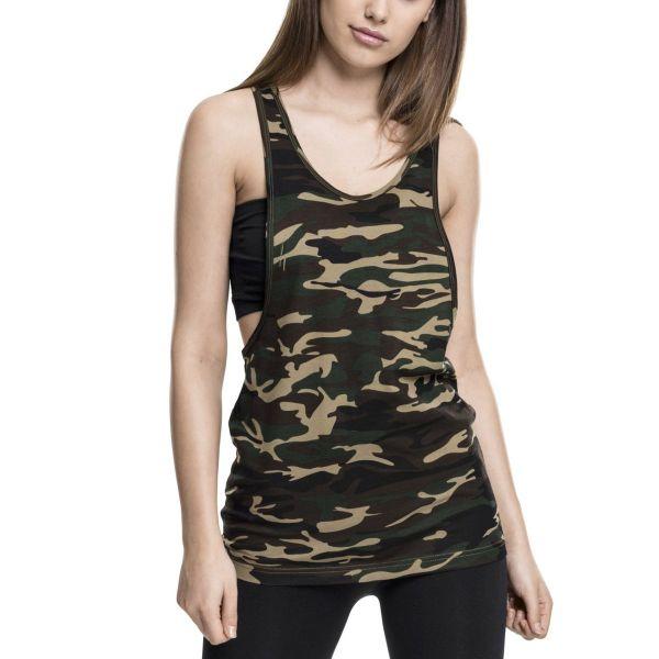 Urban Classics Ladies - LOOSE Camouflage Army Tank Top Shirt
