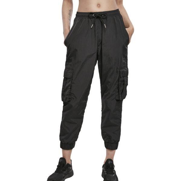 Urban Classics Ladies - High Waist Crinkle Cargo Hose