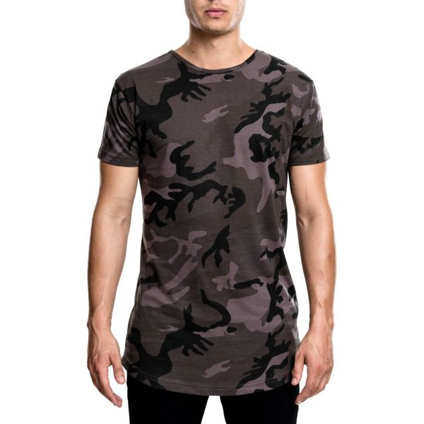 Urban Classics - SHAPED Long Tee Shirt camouflage