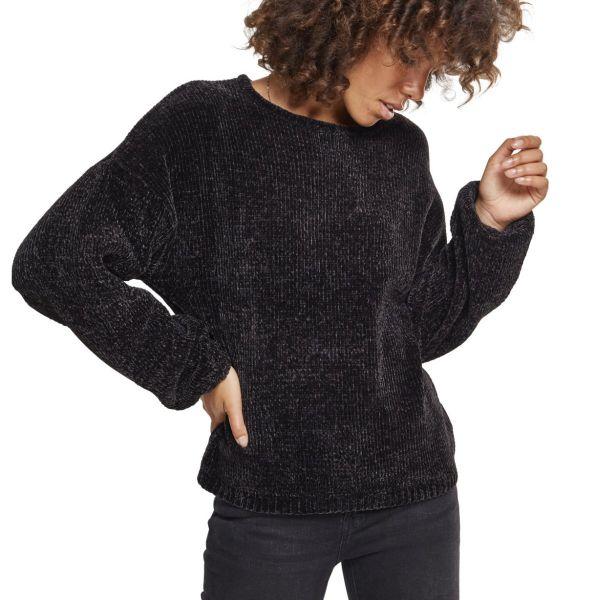 Urban Classics Ladies - Oversize Chenille Sweater noir