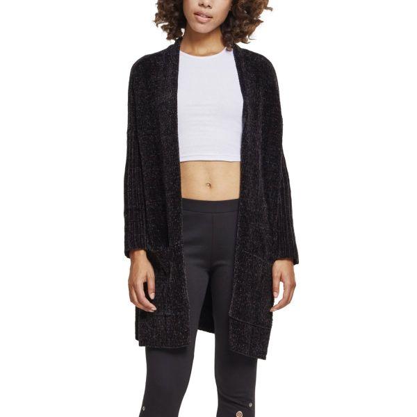 Urban Classics Ladies - Oversize Chenille Cardigan schwarz