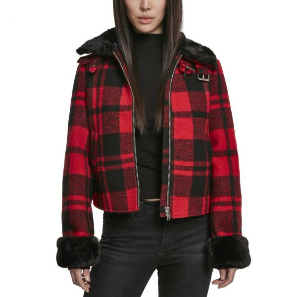 Urban Classics Ladies - PLAID Jacke rot