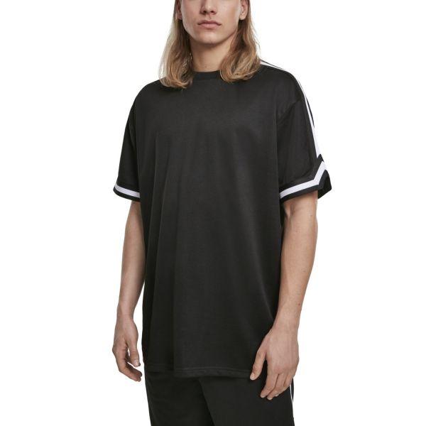 Urban Classics - Oversized Stripes Mesh Shirt schwarz
