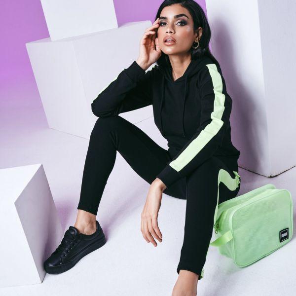 Urban Classics Ladies - Neon Shoulder Stripe Hoody