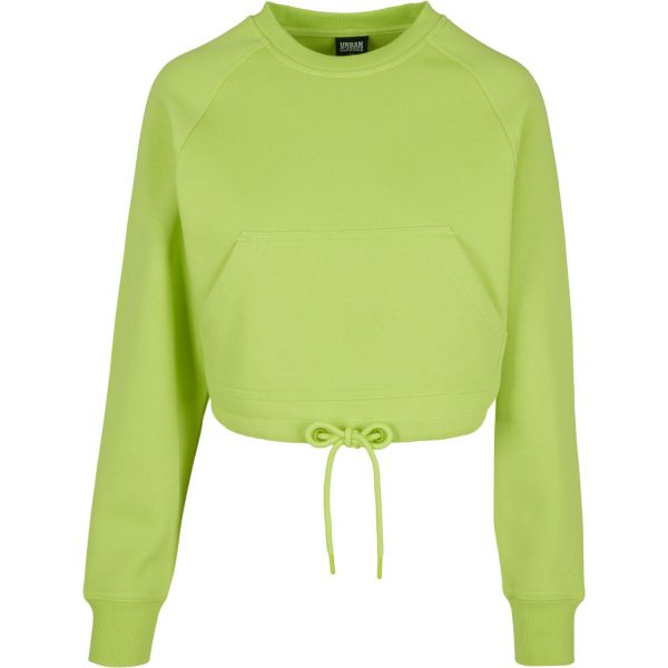 Urban Classics Ladies Oversized Short Raglan Crewneck lime