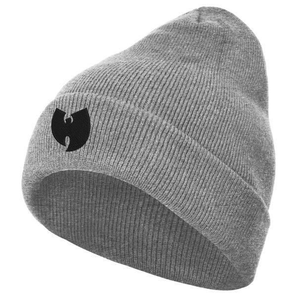 Wu-Wear Logo Beanie heather grau
