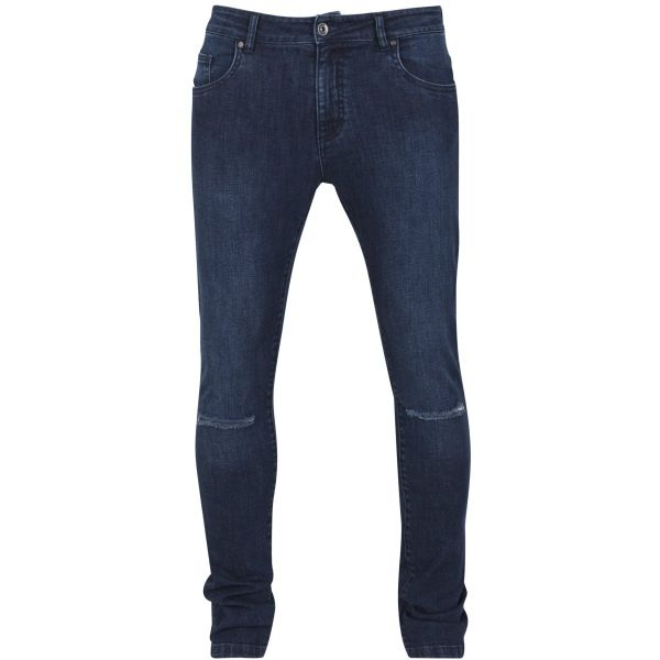 Urban Classics - SLIM FIT Knee Cut Stretch Denim Jeans Hose