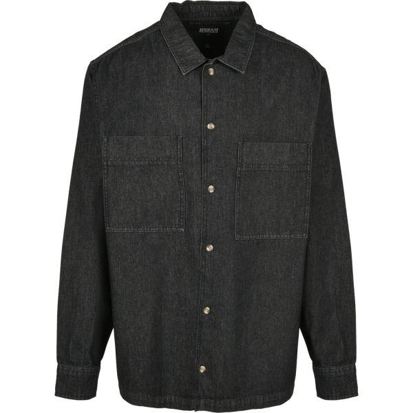 Urban Classics - Oversized Denim Hemd washed