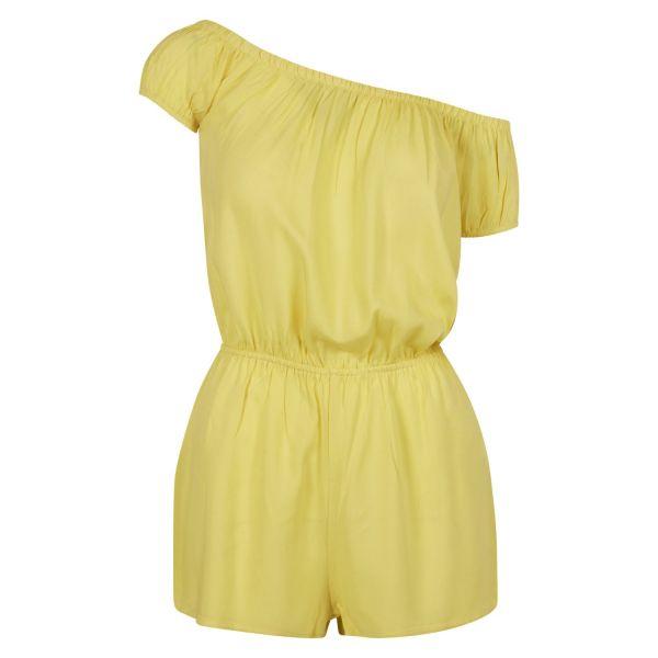 Urban Classics Ladies - Off Shoulder Short Sommer Jumpsuit