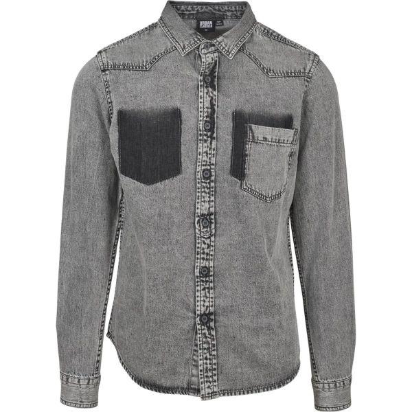 Urban Classics - DENIM Pocket Hemd denim washed