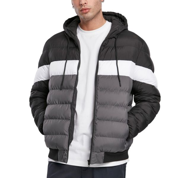 Urban Classics - Hooded Colorblock Bubble Winterjacke