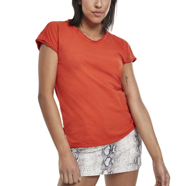 Urban Classics Ladies - Shaped Pigment Dye Top, offene Kante