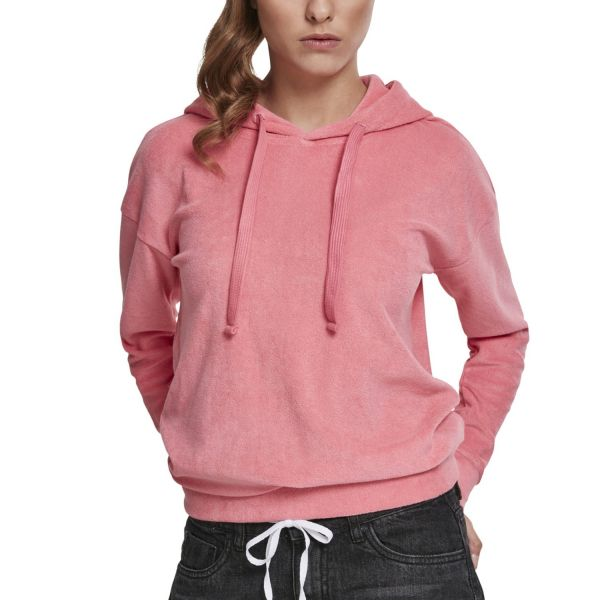 Urban Classics Ladies - TOWEL Terry Hoody pink